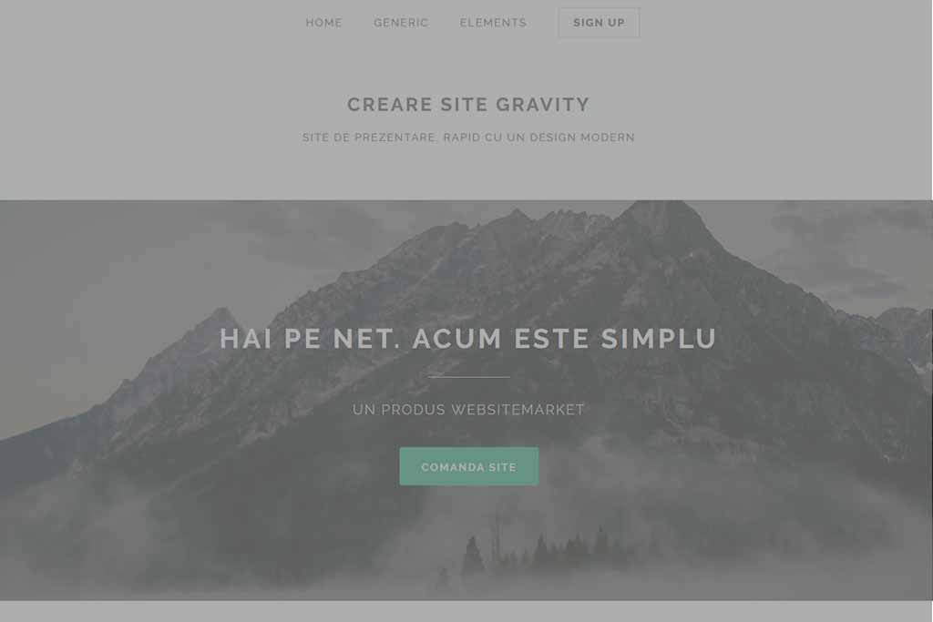 Site Prezentare Gravity - oferit de WebsiteMarket