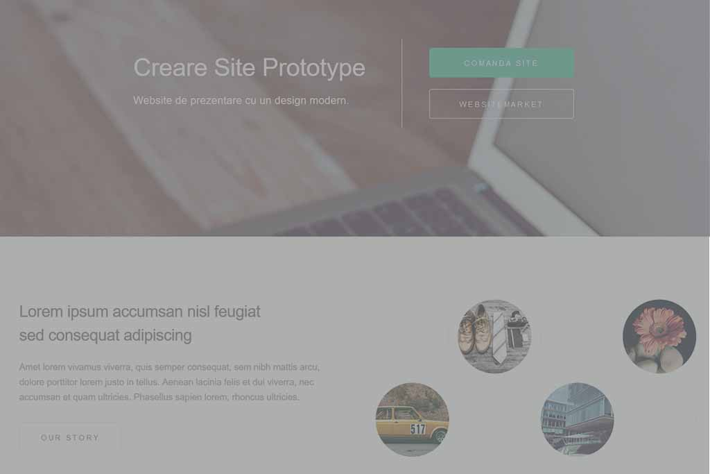 Site Prezentare Prototype - oferit de WebsiteMarket