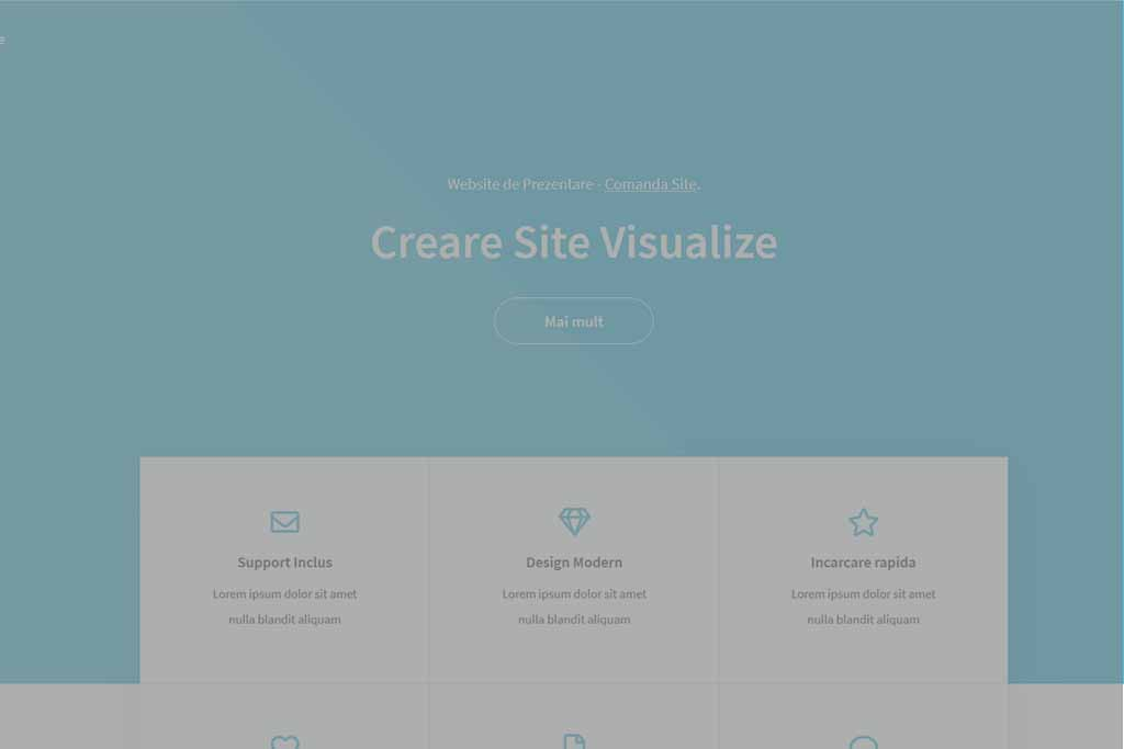 Site Prezentare Visualize - oferit de WebsiteMarket